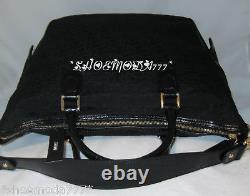 Dkny T & C Turnlock Signature Logo Business Travel Bag Fourre-tout Sac À Main Nouveau
