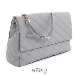 Dolce & Gabbana Bb4708 Ice Gris Satchel Sac À Bandoulière Grand Nouveau $ 1850