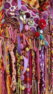 Épaule À La Main Fringe Sac Tapisserie Vintage Velvet Boho Festival Porte-monnaie Tmyers