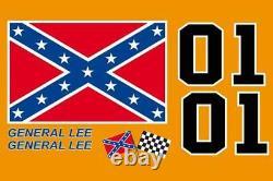 General Lee Replica Magnets Decal Dukes Drapeau Toit Hazzard, Ensemble De 01, De Gen Lee