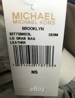 Grand Sac Fourre-tout En Cuir Brooklyn Des Territoires Du Nord-ouest Michael Kors Denim 498 $