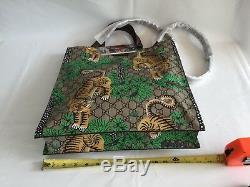 Gucci # 450950 Gg Tigre Du Bengale Suprême Grand Fourre-tout Avec Sangle, Tn-o Authentique