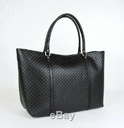 Gucci En Cuir Noir Micro-guccissima Grand Sac Fourre-tout Joy 449648 1000