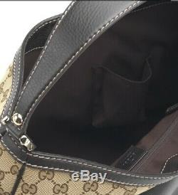 Gucci Gg Tan Brown Web Sac Besace De Toile De Monogramme Avec Des Étiquettes 100% Authentique
