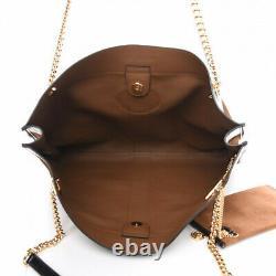 Gucci New Rajah Grand Suede Brown Calfskin Tote