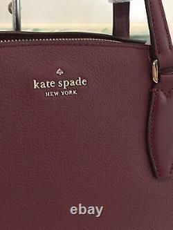 Kate Spade Monet Grand Compartiment Triple Sac À Bandoulière Cherrywood Cuir