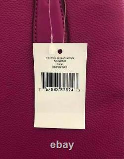 Kate Spade Monet Grand Triple Compartiment Violet Cuir Sac Wkru6948 $399 Pdsf