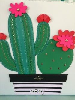Kate Spade Nwt Horizons Cactus Peu Len Waters Île Sac Fourre-tout Porte-monnaie