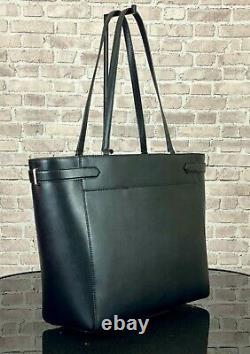 Kate Spade Stati Large Leather Laptop Tote Shoulder Bag Purse 449 $ Noir
