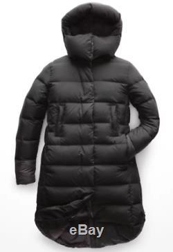 La North Face Femmes Cryos Noir Taille Parka Grand 800 Manteau D'hiver 500 $