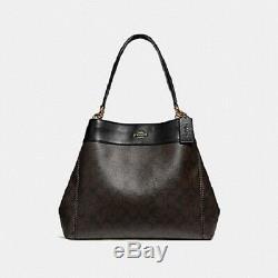 Le Nouvel Entraîneur Authentique F27972 Lexy Sac Bandoulière Bourse Signature Pincent Brown / Noir