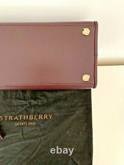 Le Sac Fourre-tout Strathberry Bourgogne Tout Neuf Avec Tag & Dust Bag