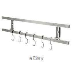 Livivo Couteau Mur Magnétique En Rack Et 6 Crochets Suspendus S / Acier Porte Ustensile