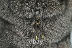 Luxury Fur Backpack Full Skin Crystal Frost Fox Fur Brown Real Fox Fur & Leather
