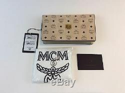 MCM 2 Fold Portefeuille Large Sac Bandoulière En Cuir