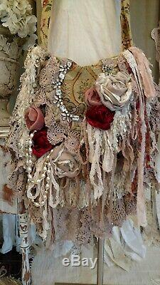 Main Grand Sac Vintage En Dentelle Florale Tapisserie Fringe Porte-monnaie Tmyers Crossbody