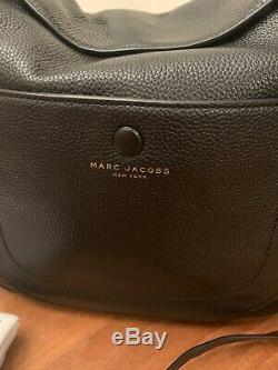 Marc Jacobs Empire City En Cuir Noir Grand Sac À Main Hobo Convertible 475 $ Nouveau