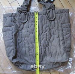 Marc Jacobs Sac Joli Nylon Quilt Grand Tate Knot Tote Quartz Grey Nouveau 198 $
