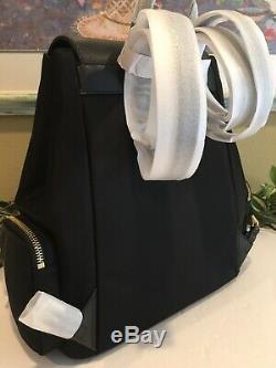 Michael Kors Abbey Grand Cargo Sac À Dos En Nylon Noir Sac En Cuir 448 $