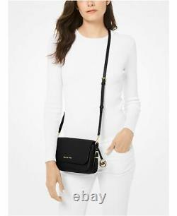 Michael Kors Bedford Legacy Cuir De Cailloux Large Flap Crossbody Bag
