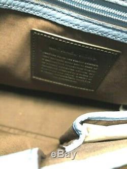 Michael Kors Bryant Grand Ew Messenger Sac Pour Ordinateur Portable En Cuir Pebbled Lt Denim 448 $