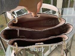 Michael Kors Femmes Grande Épaule Sac Sac Sac Satchel Rose Vanilla Handbag+wallet