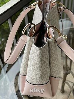 Michael Kors Femmes Large Shoulder Tote Satchel Bag Pink Vanilla Gold Bag Sac À Main