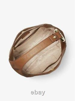Michael Kors Fulton Large Hobo Shoulder Bag Brown Leather 35s0gfth3l T.n.-o. 398 $
