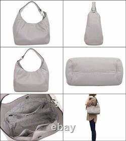 Michael Kors Fulton Large Hobo Shoulder Bag Gray Leather 35s0sfth3l Nouveau $398 Fs