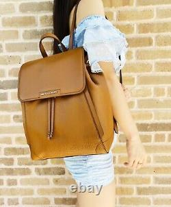 Michael Kors Ginger Grand Sac À Dos Abbey Drawstring Pebbled Leather Bagage