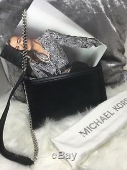 Michael Kors Grand Whitney D'argent Clouté Sac À Bandoulière