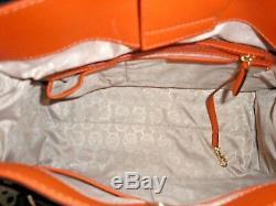 Michael Kors Hamilton Grand Ns Bourse D'orange Saffiano Sac Fourre-tout En Cuir 358 $ Nwt