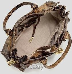 Michael Kors Hamilton Ns Grand Sable Brown Python Serpent Cuir Embossé Tote Tn-o