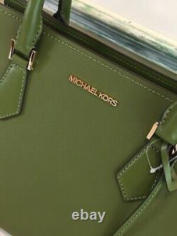 Michael Kors Hope Grand Sac D'épaule Satchel Tote Purse Vert Cuir 468 $