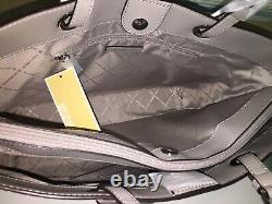 Michael Kors Jet Set Large Multifonctional Tote Bag White Signature Grey Ordinateur Portable