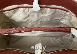Michael Kors Jet Set Red Saffiano Cuir Grand East West Tote & Dustbag