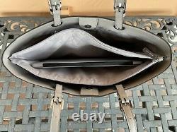Michael Kors Jet Set Voyage Grand Multifonctions Commuter Tote Bag Mk White Grey