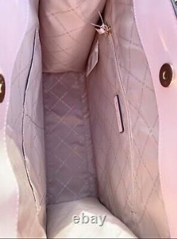 Michael Kors Kenly Large North South Fourre-tout Cuir Brun Mk Signature Blush Pink