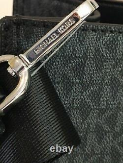 Michael Kors Kenly Large Ns Sac De Corps Croisé Satchel Mk Black Signature Argent