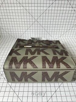 Michael Kors Kenly North South Grand Tote Signature Mk Crossbody Sac À Main