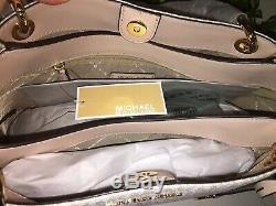 Michael Kors Nicole Grand Sac Fourre-tout D'épaule Mk Vanille Signature Ballet 448 $