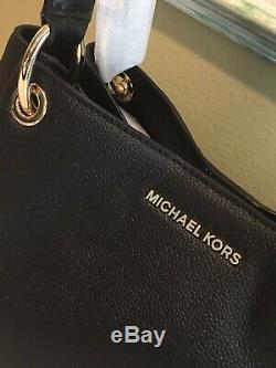 Michael Kors Nicole Grand Sac Fourre-tout Épaule Or Noir En Cuir 448 $