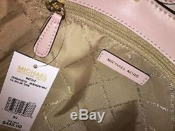 Michael Kors Nicole Grand Sac Fourre-tout Épaule Vanille Signature Fleur Rose 448 $
