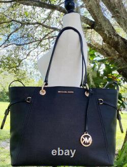Michael Kors Nicole Large Grab Bag Drawstring Tote Black + Jet Set Portefeuille