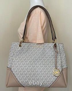 Michael Kors Nicole Mk Signature Leather Large Shoulder Bag Sac À Main