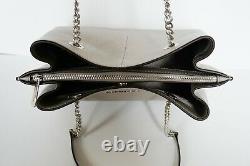 Michael Kors Teagen Long Drop Leather Chain Sac À Bandoulière Sac À Bandoulière Pearl Grey