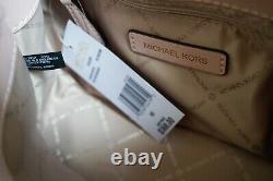 Michael Kors Teagen Petit Pvc Leather Messenger Bag Mk Brown/pink Blssom