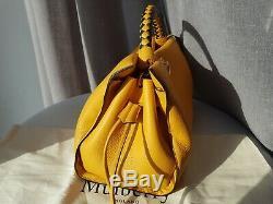 Mulberry Sac Iris Et Poignée Supplémentaire En Cuir Caillou Profond Ambre (rrp £ 1400)