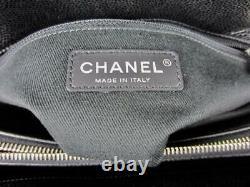 Nib Chanel Noire Matelassée En Cuir Caviar CC Timeless Souple Grand Commercial Fourre-tout