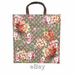 Nouveau $ 1450 Gucci Floral Rose Blooms Gg Suprême De Toile Grand Fourre-tout Voyage Sac Et Box